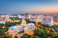 Jackson,,Mississippi,,Usa,Cityscape,At,Dusk.