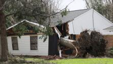 """""""Acá fue el impacto del huracán"""": Damnificados piden ayuda en Houma, Louisiana"""