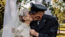 Hace 77 años se casaron, pero apenas ahora logran hacer las fotos de la boda
