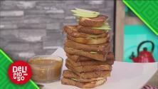 Aprende a preparar un delicioso panini de pie de manzana con helado de vainilla