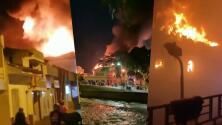 (VIDEO) Incendian tribunal en medio de las protesta en Colombia