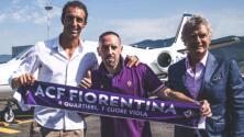 Franck Ribéry es presentado con la Fiorentina