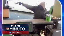 'Miami en un Minuto': ofrecen 15,000 dólares de recompensa por el hombre que protagonizó un tiroteo en una sucursal del TD Bank en Miami-Dade