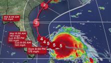 El huracán Dorian se sigue fortaleciendo y ya tiene vientos de 180 millas por hora
