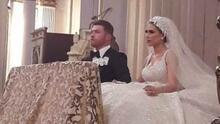 Así fue la fastuosa boda por la iglesia de Canelo Álvarez y Fernanda Gómez