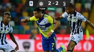 Anulan gol a Cristiano en el minuto final y la Juventus empata