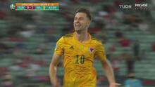 ¡Hermoso gol! Ramsey pone en ventaja 0-1 a Gales ante Turquía