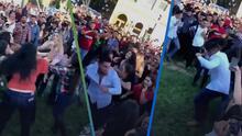 (Video) Bailando huapango: Hombre calmó pelea entre mujeres que se agarraban a golpes al ritmo de la música