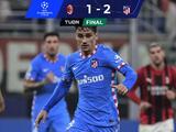 Atlético de Madrid logra valioso triunfo ante el Milan con penalti agónico