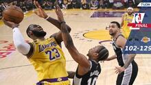 LeBron carga en sus hombros a los Lakers y vencen a los Spurs