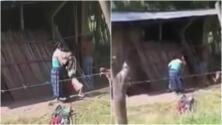 Los brutales correazos de una madre a su hijo por comerse la comida de su padre sin permiso