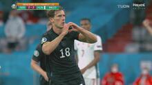 ¡Respira Alemania! Disparo para el dramático 2-2 de Goretzka