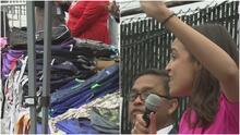 Alexandria Ocasio-Cortez entrega mochilas en El Bronx de cara al regreso a clases