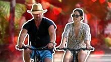 Amor sobre ruedas: Eiza González y Josh Duhamel pasearon en bicicleta