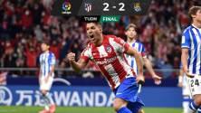 Luis Suárez fue el héroe del Atlético de Madrid