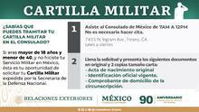 Tramita tu cartilla militar en el Consulado de México