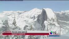 Escasea la nieve en Yosemite