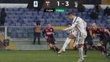 Cristiano Ronaldo marcó dos penales y encaminó el triunfo de la Juventus