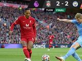 ¡Partidazo! Liverpool y Manchester City regalan un duelo vibrante para igualar en Afield