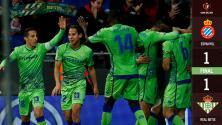¡El efecto Lainez! Betis consiguió apurado empate con los mexicanos en la cancha