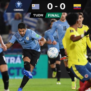 Uruguay y Colombia pactan soso empate en Montevideo