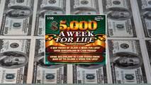 Hombre de 66 años gana $5,000 a la semana de por vida con el raspadito de la Lotería