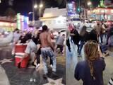 Video capta violenta pelea frente a decenas de turistas en el paseo de la fama de Hollywood