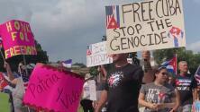 """""""Alzo mi voz en nombre de mi pueblo"""": continúan las manifestaciones para apoyar las protestas en Cuba"""