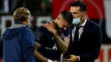 En el peor momento: PSG con firma la lesión de Mauro Icardi