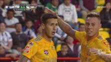Ismael Sosa define cruzado y empata por Tigres 1-1 en Pachuca