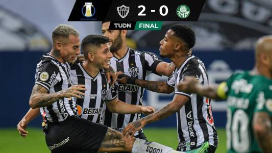 Goles y resumen | Atlético Mineiro derrota a Palmeiras