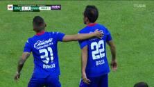 ¡GOOOL! Rafael Baca anota para Cruz Azul.