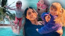 Con aventada en la piscina, la hija de Aislinn Derbez y Mauricio Ochmann muestra que se mueve como 'pez en el agua'
