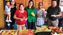 Maity aprendió a preparar el tradicional pan de dulce mexicano para salir a repartirlo con los trabajadores hispanos