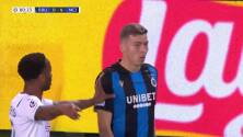 ¡GOL!  anota para Club Brugge. Hans Vanaken