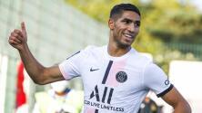 Hakimi debuta con gol y le da el triunfo al PSG en amistoso