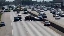 Caos en la Dan Ryan: balean a un policía estatal en plena autopista al sur de Chicago