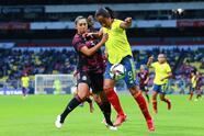 México sabe aprovechar a localía y con anotaciones de Maria Sánchez y Maricarmen Reyes, las locales vencen 2-0 a las seleccionadas colombianas.