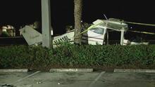 Una avioneta cae en una calle de Miramar y las dos personas que viajaban en ella sobreviven