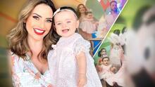 """""""Feliz"""" y en la tierra de sus padres: así fue la fiesta de cumpleaños de Megan, la hija de Michelle Galván"""