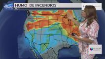 Humo de los incendios de la costa oeste prevalece en el área: Se prevén malas condiciones en el aire