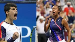Carlos Alcaraz y Leylah Fernández, dos nuevas joyas del tenis
