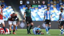 Con Chucky, Napoli iguala ante Cagliari y pone en riesgo Champions