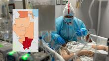 Se acaban las camas de cuidados intensivos (ICU) en distintas regiones de Illinois