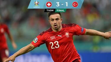 Con doblete de Shaqiri, Suiza venció a Turquía y sueña con Octavos