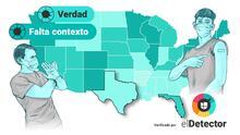 En gráficos: ¿Hay una coincidencia entre la disparada de hospitalizaciones y muertes por covid-19 en Texas y Florida y que tuvieran menos de la mitad de la población vacunada?