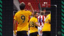 La afición del Wolverhampton dedica emotiva canción a Raúl Jiménez tras gol