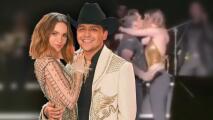 Con un beso en pleno concierto, Belinda y Christian Nodal acaban con los rumores de su ruptura