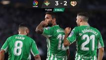 Real Betis vence al Rayo y se coloca en zona de Champions