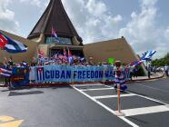 Exilio cubano marcha desde la Ermita por la libertad de Cuba
